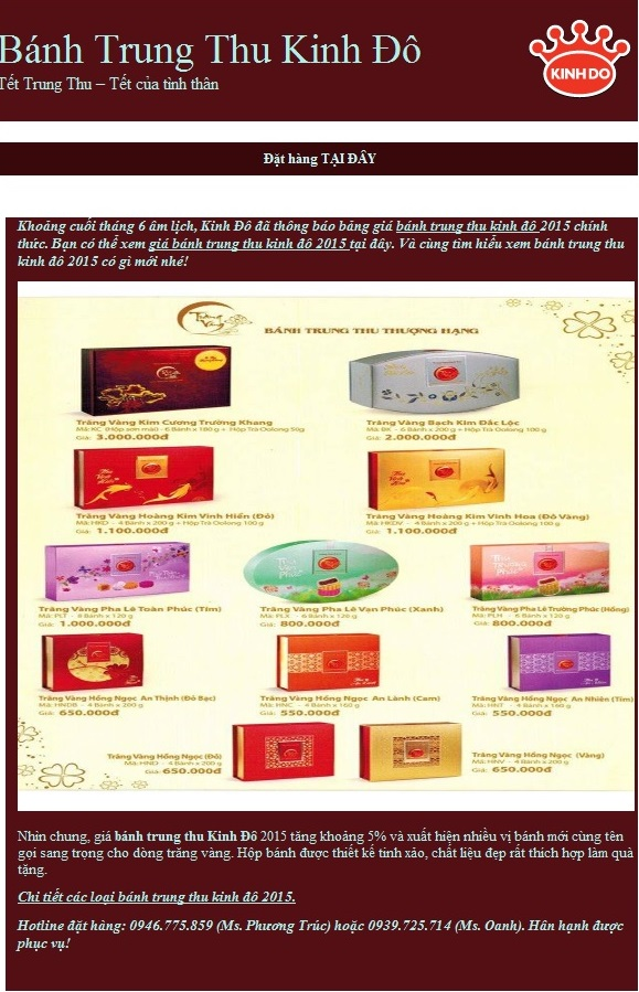 Quang cao banh trung thu hieu qua voi TOP Email Marketing