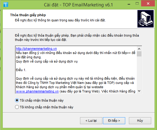 cai dat top email 6.1 b