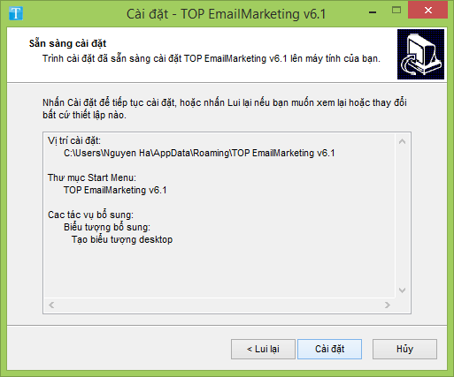 cai dat top email 6.1 c