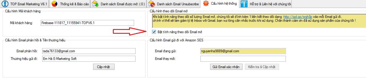theo doi email mo