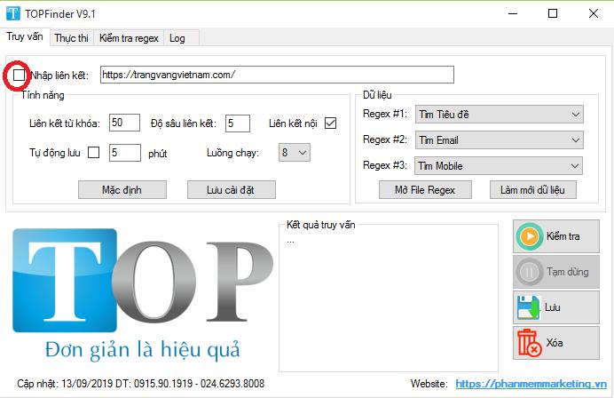 Phần mềm tìm kiếm email số điện thoại trên website