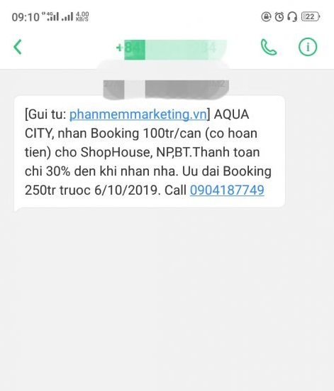 Bắt đầu với SMS Marketing cho đại lý bất động sản.