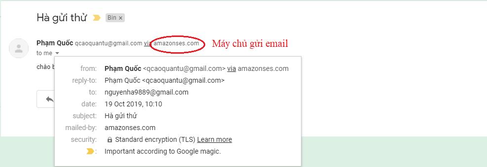 SMTP server máy chủ gửi email